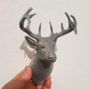 Buste Cerf décoration Impression 3D PLA 3D SAVOIE