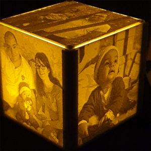 cube lithophane lithophanie personalisé photo 3D SAVOIE IMPRESSION PLA