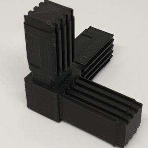 té assemblage tube alu carré Spinner bi-couleur Fidget décoration jeu amusement enfant Impression 3D PETG plastique introuvable 3D SAVOIE
